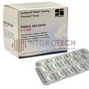 Tabletki do testera ręcznego phenol Red